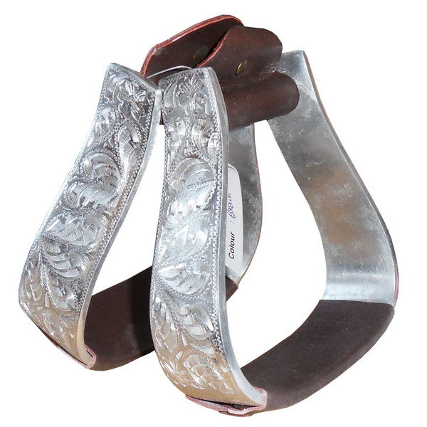 aluminium steigb gel f r westernsattel braun oder. Black Bedroom Furniture Sets. Home Design Ideas