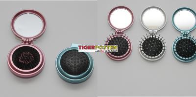 3 x b rste mit spiegel klappbar f r handtasche kamm ebay. Black Bedroom Furniture Sets. Home Design Ideas