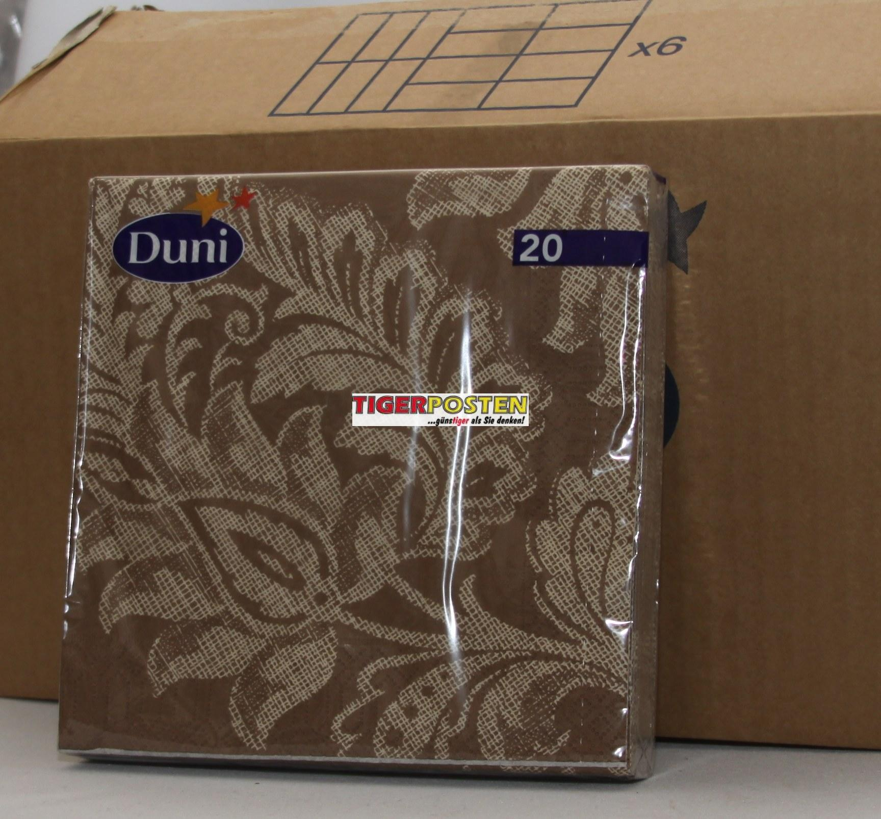 12 x 20er duni servietten braun mit muster 3 lagig 33 x 33cm ebay. Black Bedroom Furniture Sets. Home Design Ideas