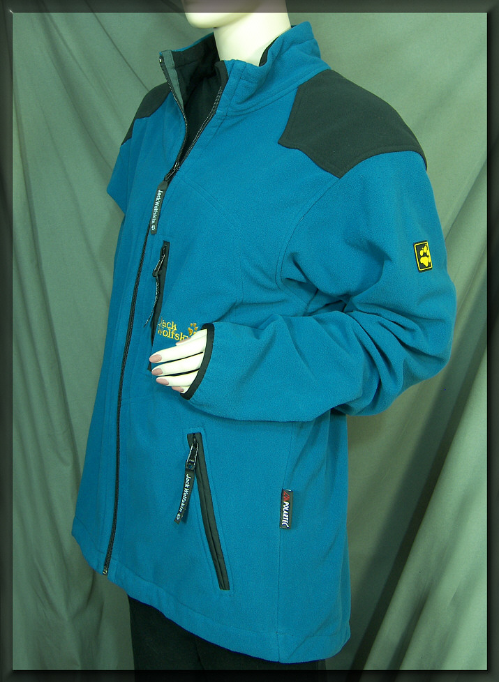 jack wolfskin herren jacke gr l fleecejacke blau steep. Black Bedroom Furniture Sets. Home Design Ideas