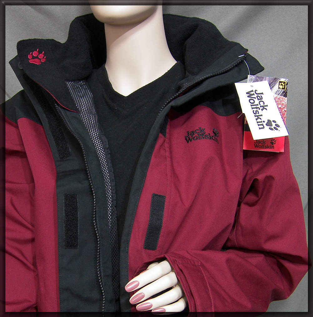 jack wolfskin damen jacke gr m l anorak dark red. Black Bedroom Furniture Sets. Home Design Ideas