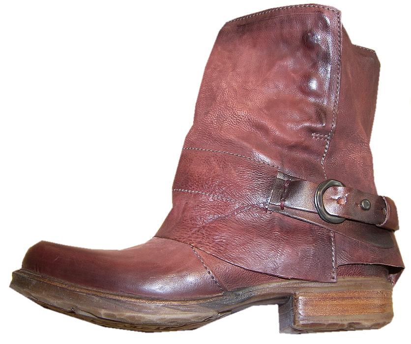 airstep boots stiefel rotbraun 39 used optik rot braun leder stiefelette neu ebay. Black Bedroom Furniture Sets. Home Design Ideas