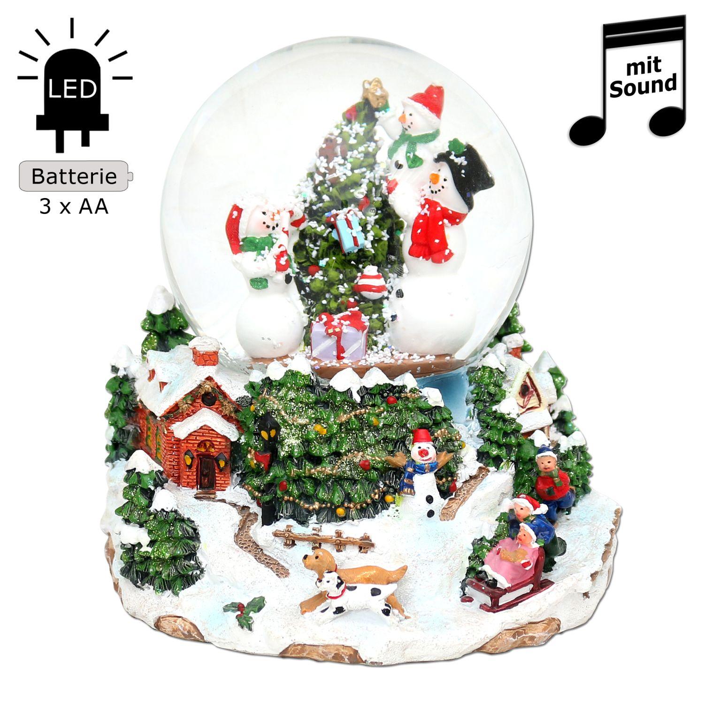 led schneekugel weihnachten mit elektr schneewirbel. Black Bedroom Furniture Sets. Home Design Ideas