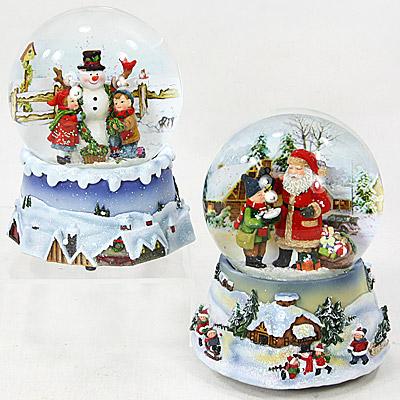 schneekugel mit spieluhr white christmas weihnachten deko glitzerkugel ebay. Black Bedroom Furniture Sets. Home Design Ideas