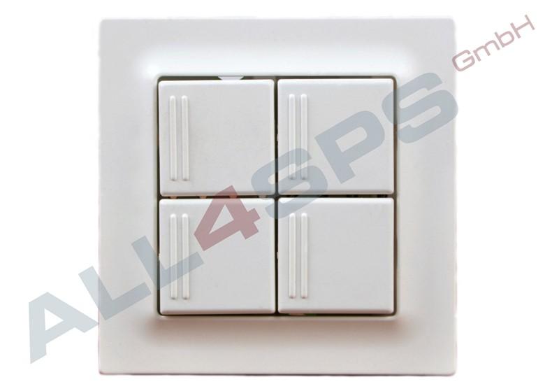 feller edizio up taster tebis 4 fach 385x ebay. Black Bedroom Furniture Sets. Home Design Ideas