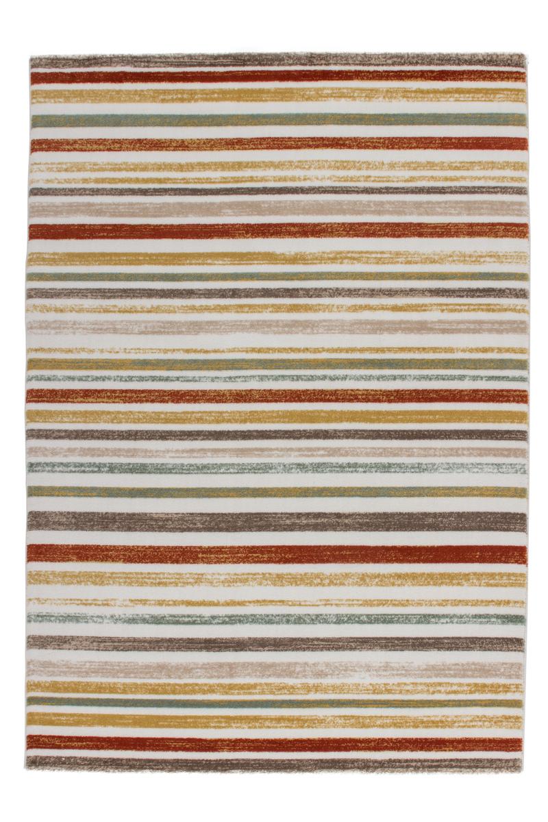 Teppich Fußboden Design MexikoStadt Elfenbein 80cmx300cm