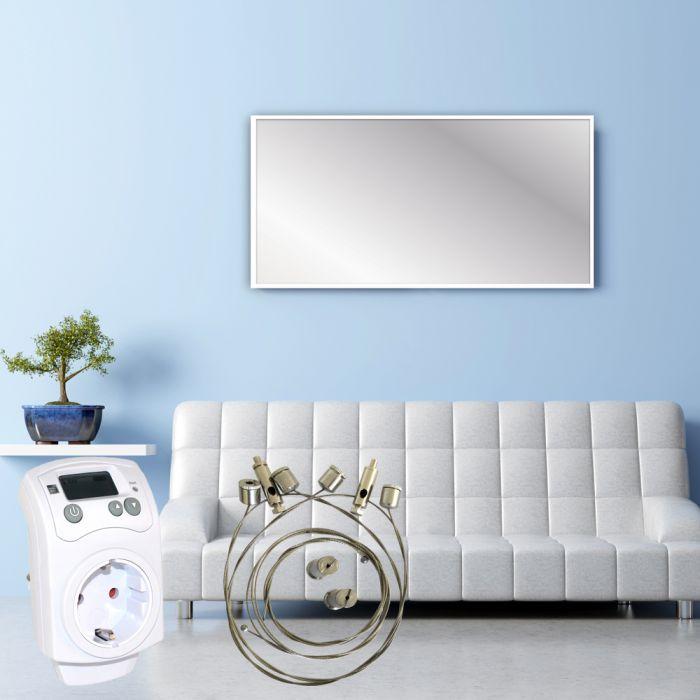 infrarotheizung infrarotheizk rper elektroheizung heizpaneel heizk rper infrarot ebay. Black Bedroom Furniture Sets. Home Design Ideas