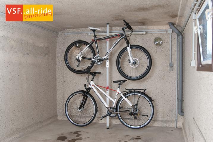 fahrradhalter spacer fahrradst nder f r 2 fahrr der doppelparkplatz fahrrad. Black Bedroom Furniture Sets. Home Design Ideas