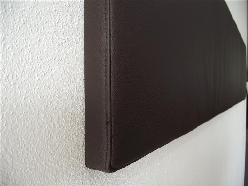 wandkissen wandkissen kunstleder schwarz wandkissen gepolstert aus wollfilz mit dots blumen. Black Bedroom Furniture Sets. Home Design Ideas