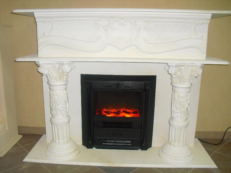 kamine elektrokamin steinm bel fossilm bel marmor griechischer s ulen kamin. Black Bedroom Furniture Sets. Home Design Ideas