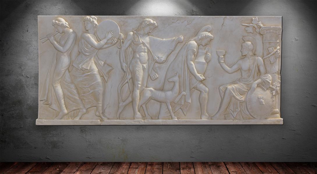 griechisches 3 d wanndbild wandbilder wand relief tribut. Black Bedroom Furniture Sets. Home Design Ideas