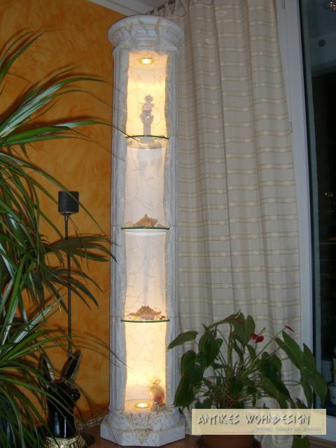 vitrine vitrinen stands ule deko griechische s ulen. Black Bedroom Furniture Sets. Home Design Ideas