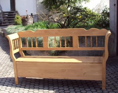 kr 180 bank truhenbank holzbank k chenbank gartenbank. Black Bedroom Furniture Sets. Home Design Ideas