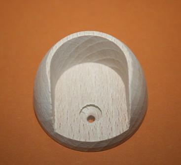 halterung f r kleiderstange rund buche s168 1034 ebay. Black Bedroom Furniture Sets. Home Design Ideas