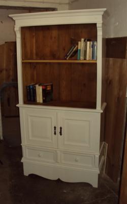 3553 b cherschrank b cherregal weichholz schrank gr nderzeit im shabby chic ebay. Black Bedroom Furniture Sets. Home Design Ideas