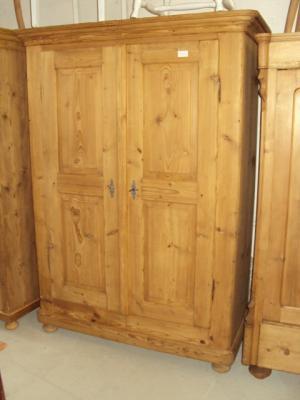4268 schrank garderobenschrank kleiderschrank 2 t rig biedermeier weichholz ebay. Black Bedroom Furniture Sets. Home Design Ideas