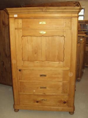 4307 schrank 1 t rig weichholz sekret r biedermeier. Black Bedroom Furniture Sets. Home Design Ideas