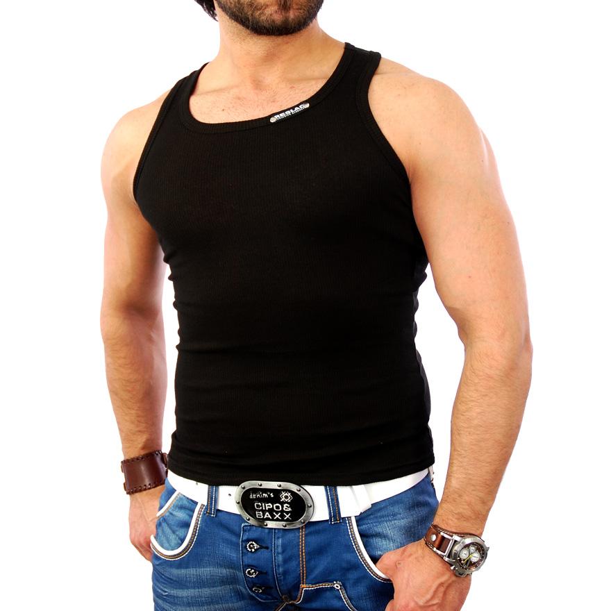 reslad atlanta herren tank top fitness body muskel t shirt. Black Bedroom Furniture Sets. Home Design Ideas