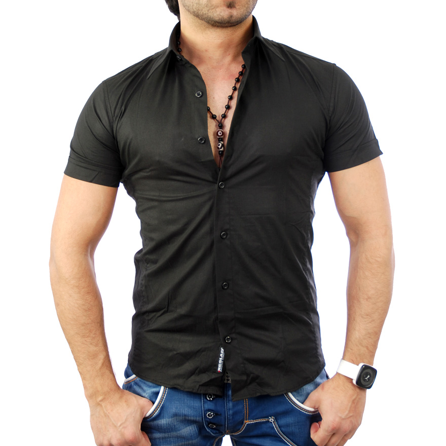 reslad herren hemd kurzarm slim fit freizeit basic trend s xxl t shirt rs 7020 ebay. Black Bedroom Furniture Sets. Home Design Ideas