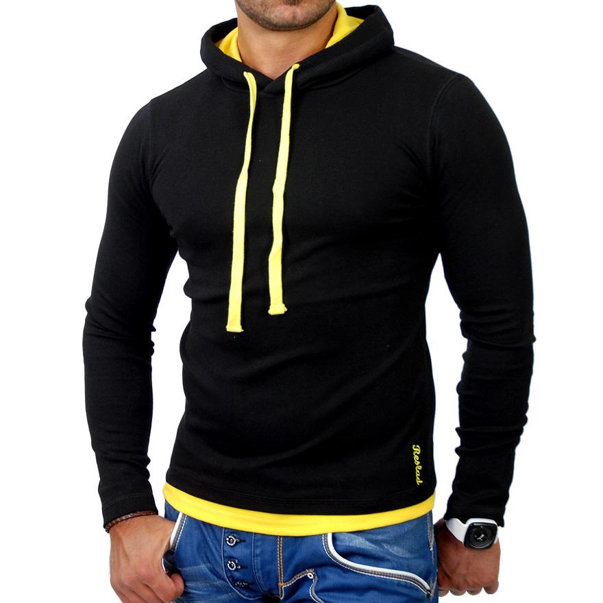 reslad herren langarm kapuzen pullover hemd t shirt hoodie. Black Bedroom Furniture Sets. Home Design Ideas