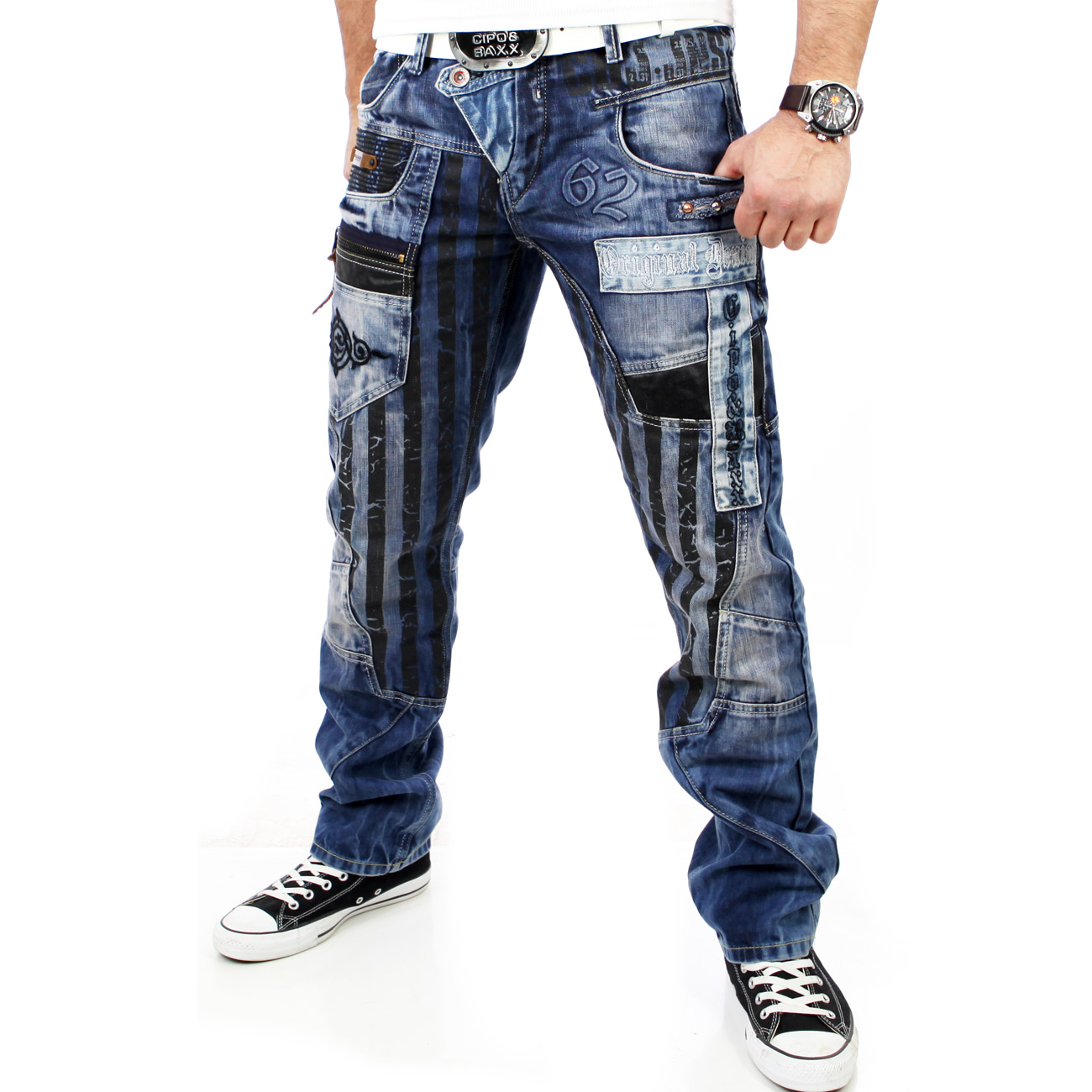 cipo baxx c 1115 herren jeanshose clubwear jeans hose. Black Bedroom Furniture Sets. Home Design Ideas