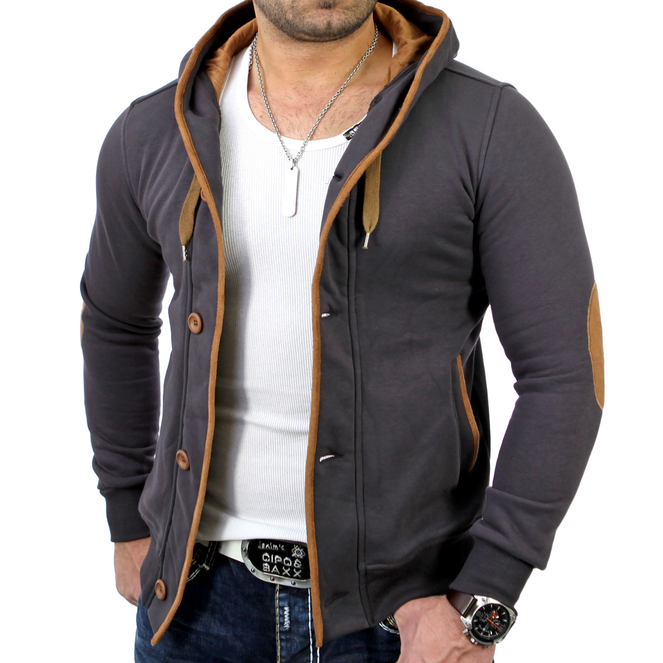 reslad rs 5066 herren kapuzen sweat jacke pullover hoody t. Black Bedroom Furniture Sets. Home Design Ideas