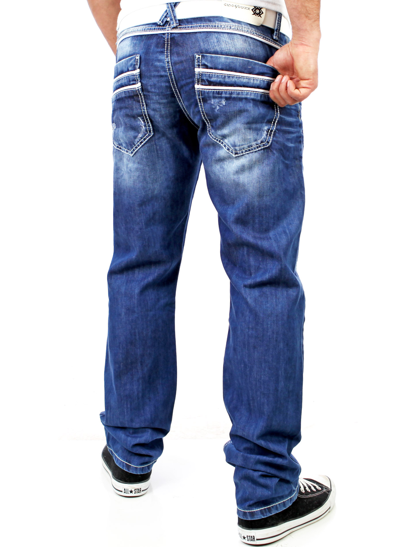 cipo baxx c 1127 herren used look ziernaht jeanshose. Black Bedroom Furniture Sets. Home Design Ideas