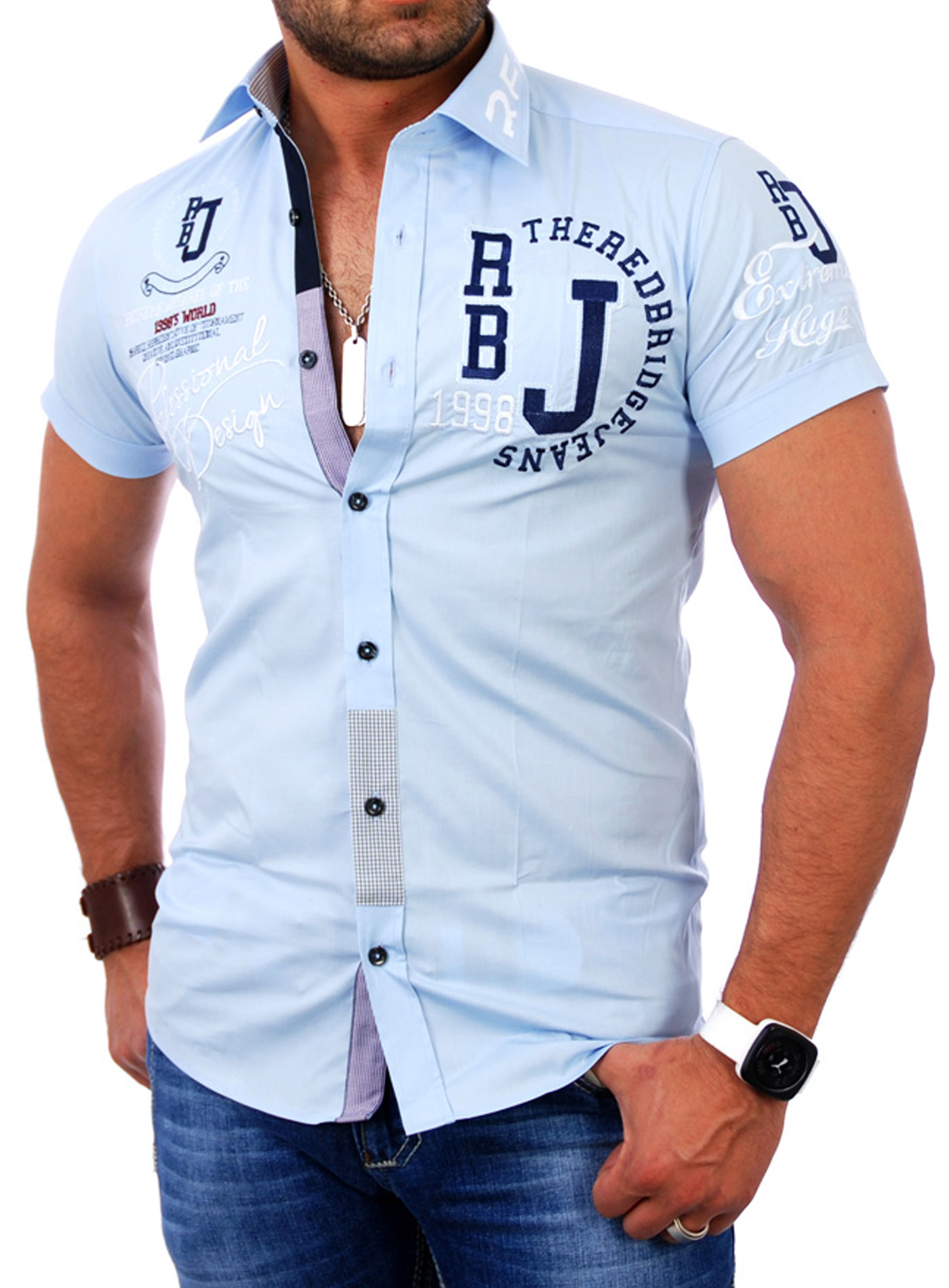 redbridge rb 2123 herren polo style kurzarm hemd poloshirt t shirt neu. Black Bedroom Furniture Sets. Home Design Ideas