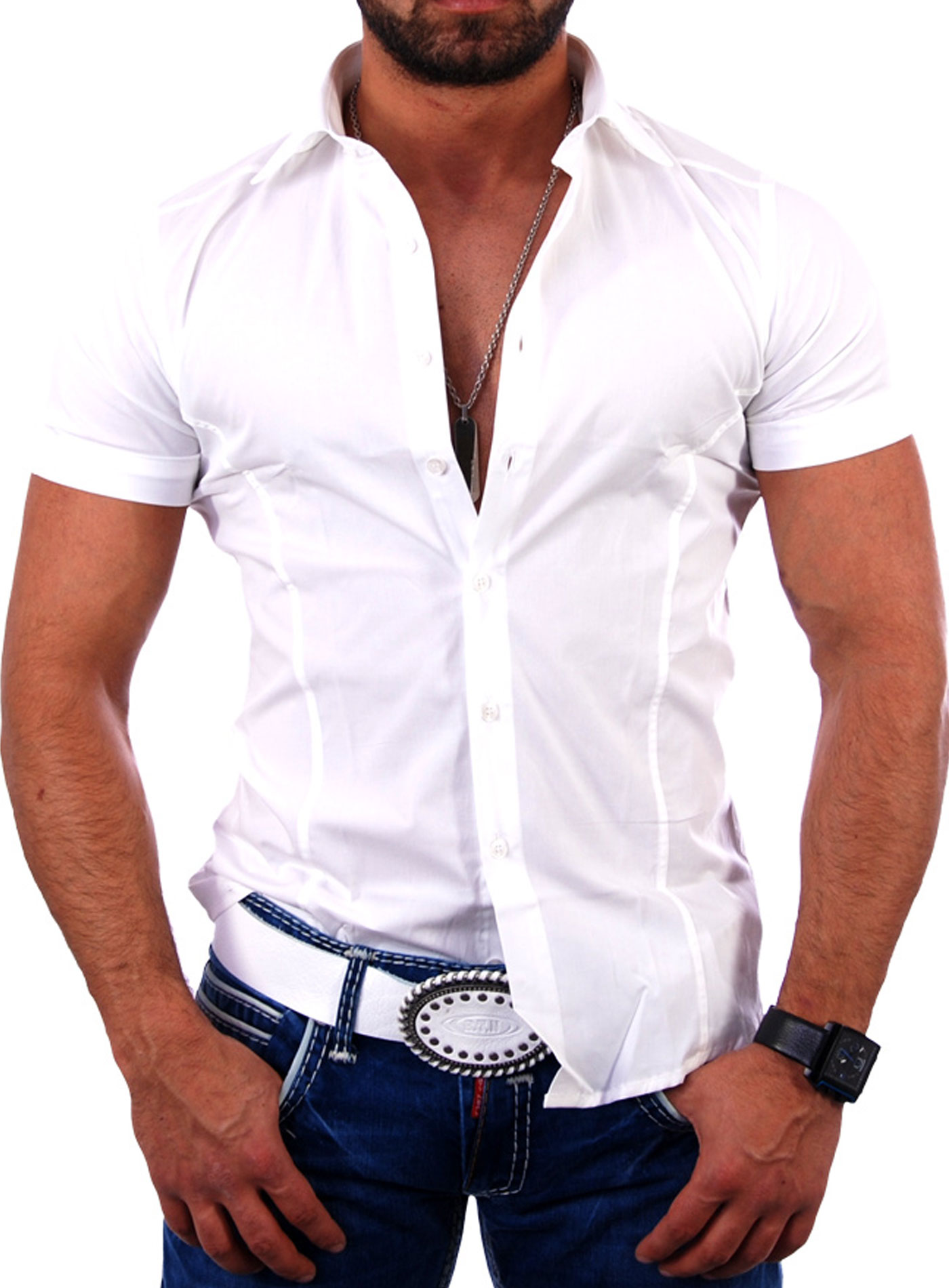 redbridge rb 2156 herren kurzarm hemd polo t shirt freizeithemd slim fit ebay. Black Bedroom Furniture Sets. Home Design Ideas