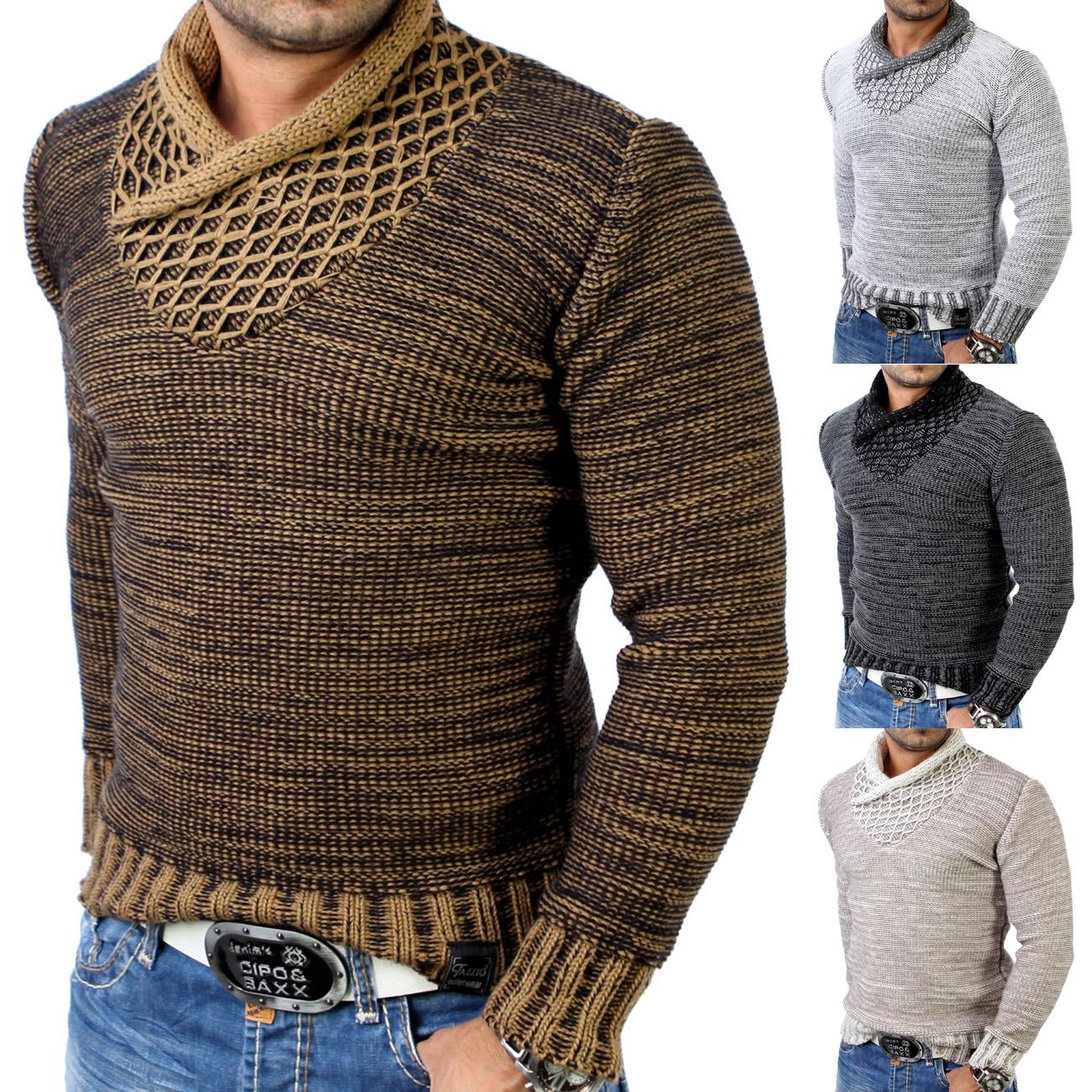 tazzio tz 3978 herren grobstrick winter pullover. Black Bedroom Furniture Sets. Home Design Ideas