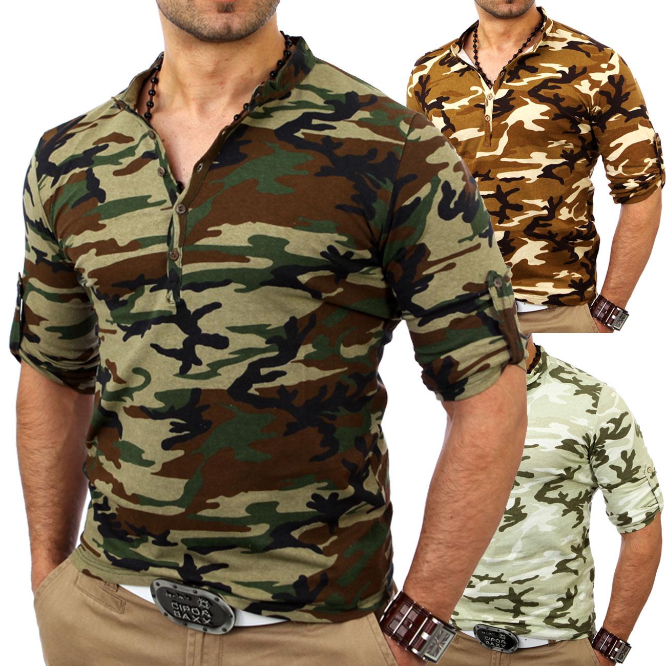 kickdown herren camouflage longsleeve longshirt t shirt. Black Bedroom Furniture Sets. Home Design Ideas