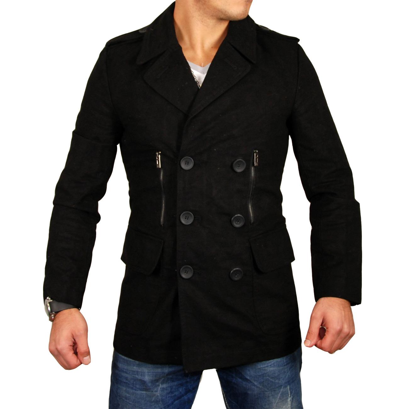 free side herren mantel jacke trenchcoat parker fs 3005. Black Bedroom Furniture Sets. Home Design Ideas
