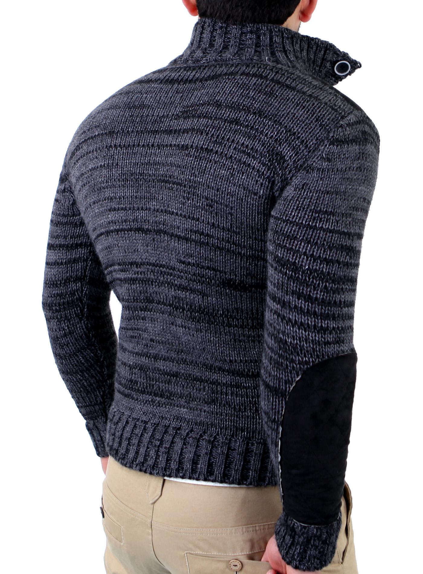 tazzio tz 406 herren winter pullover pulli sweatshirt strickjacke strickpullover ebay. Black Bedroom Furniture Sets. Home Design Ideas