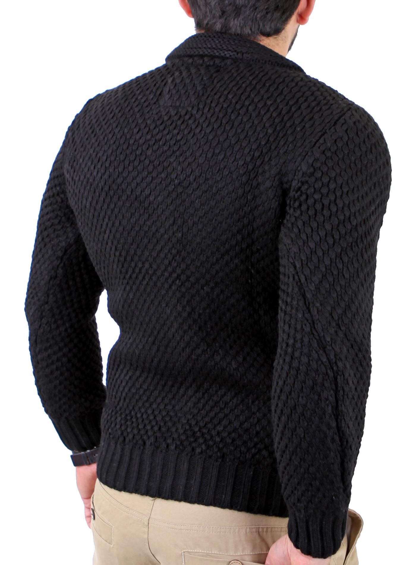 reslad herren vintage grobstrick winter pullover strick jacke pulli rs 3213 ebay. Black Bedroom Furniture Sets. Home Design Ideas