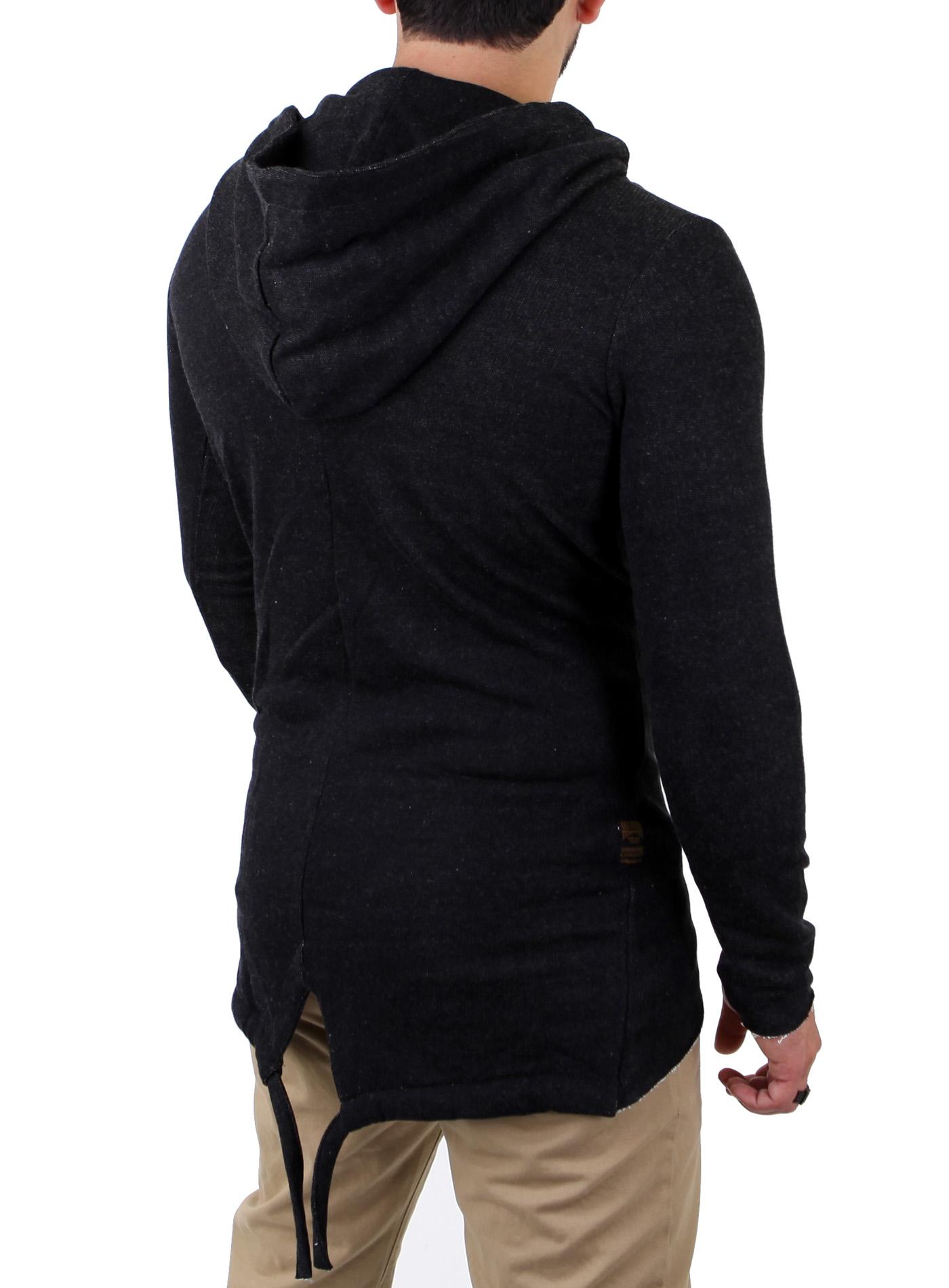 redbridge herren oversize zipper cardigan lang strick jacke pullover hoody 41354 ebay. Black Bedroom Furniture Sets. Home Design Ideas