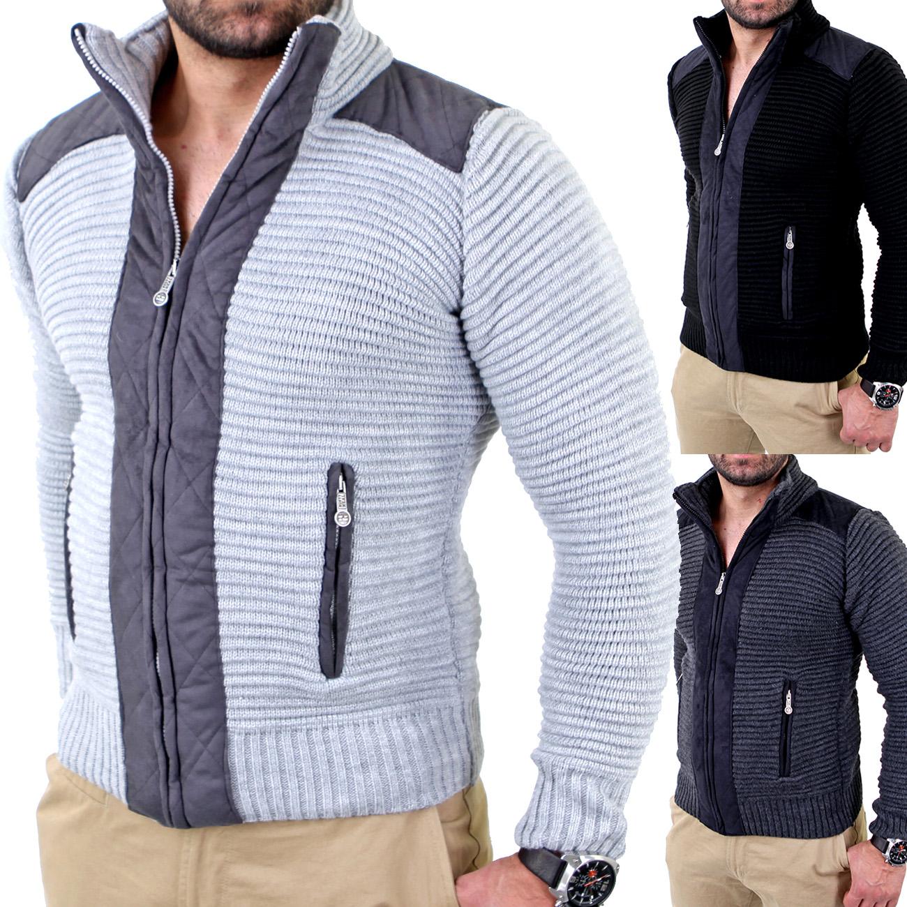 reslad herren winter strick pullover sweatjacke jacke strickjacke rs 3203 ebay. Black Bedroom Furniture Sets. Home Design Ideas