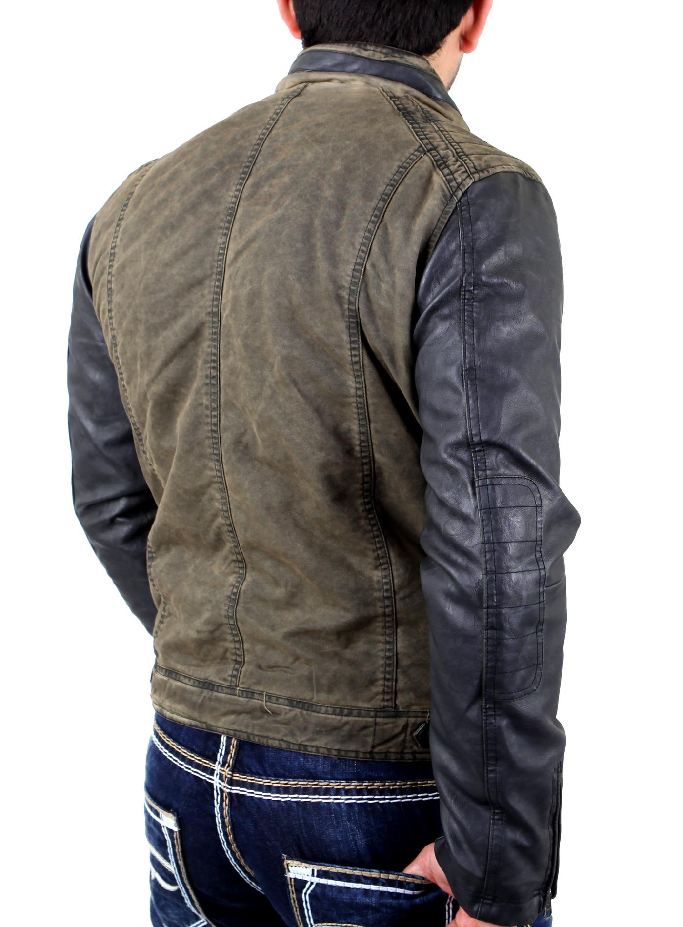 Original Polizei Lederjacke schwarz Polizei Jacke - BW