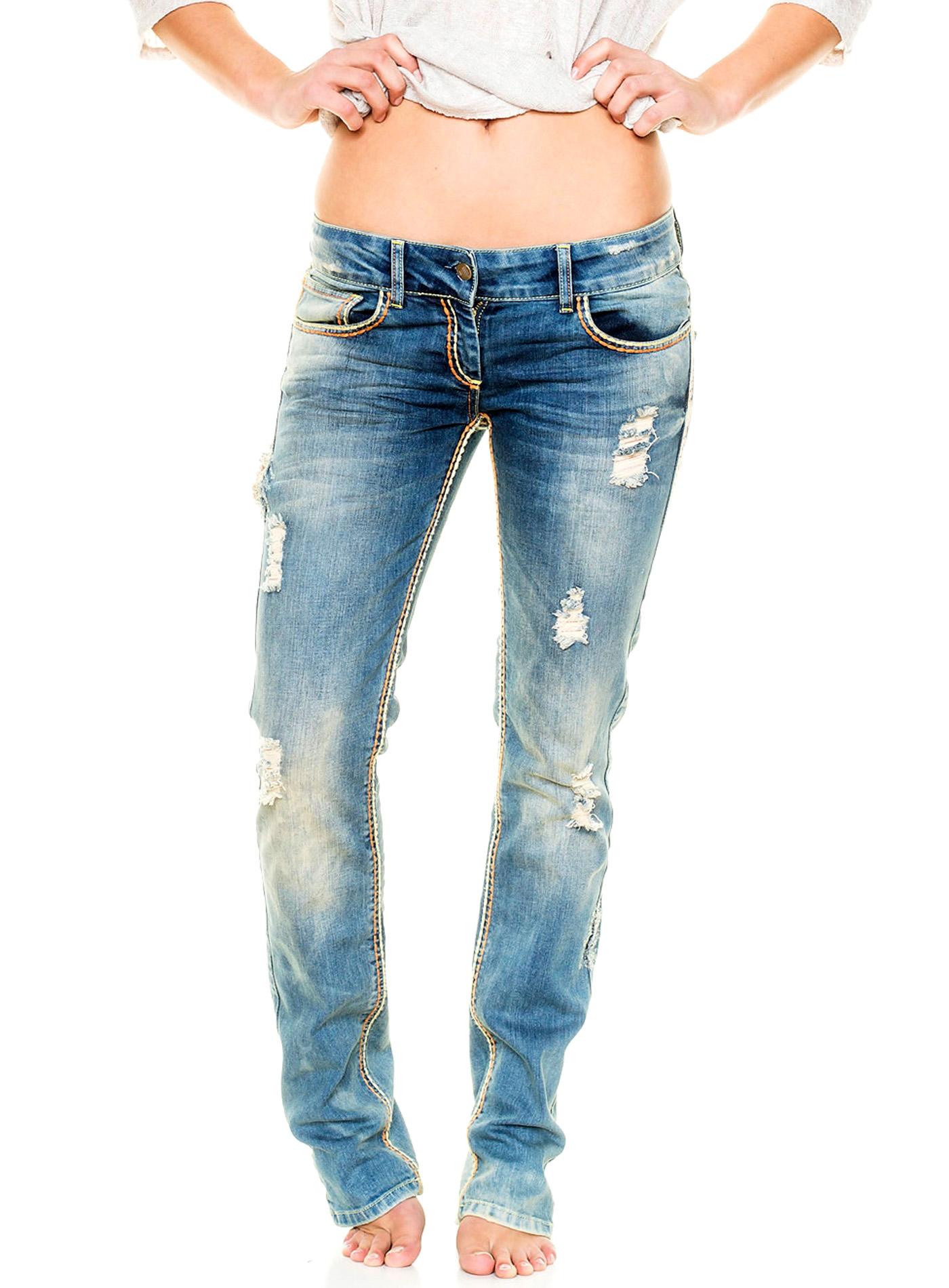 tazzio damen jeans hose straight low waist vintage look. Black Bedroom Furniture Sets. Home Design Ideas