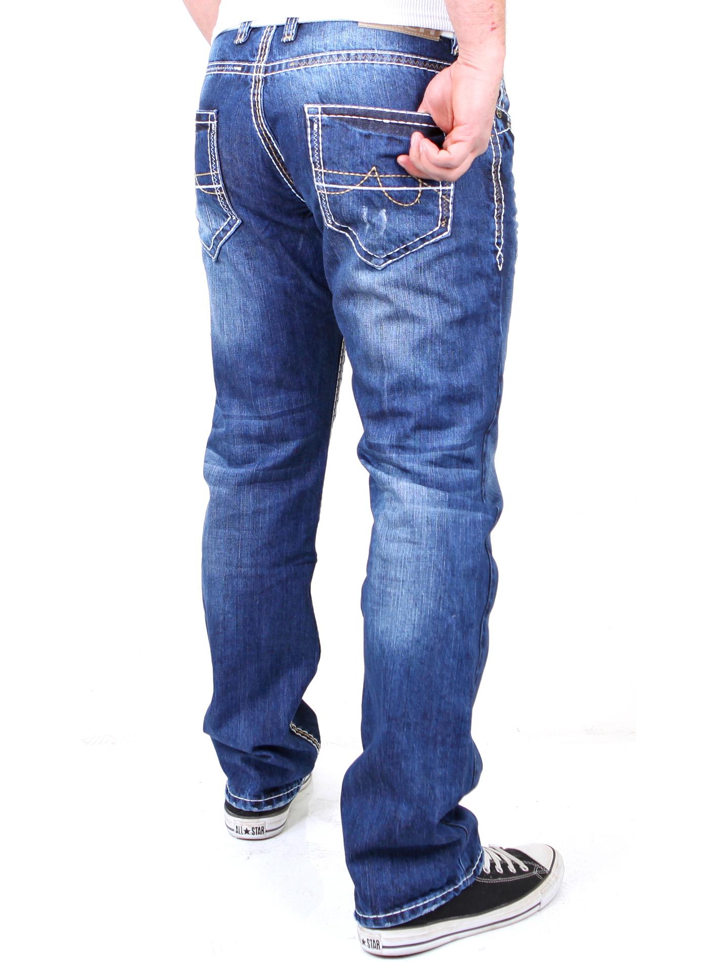 reslad herren denim jeans dicke kontrast naht used look. Black Bedroom Furniture Sets. Home Design Ideas