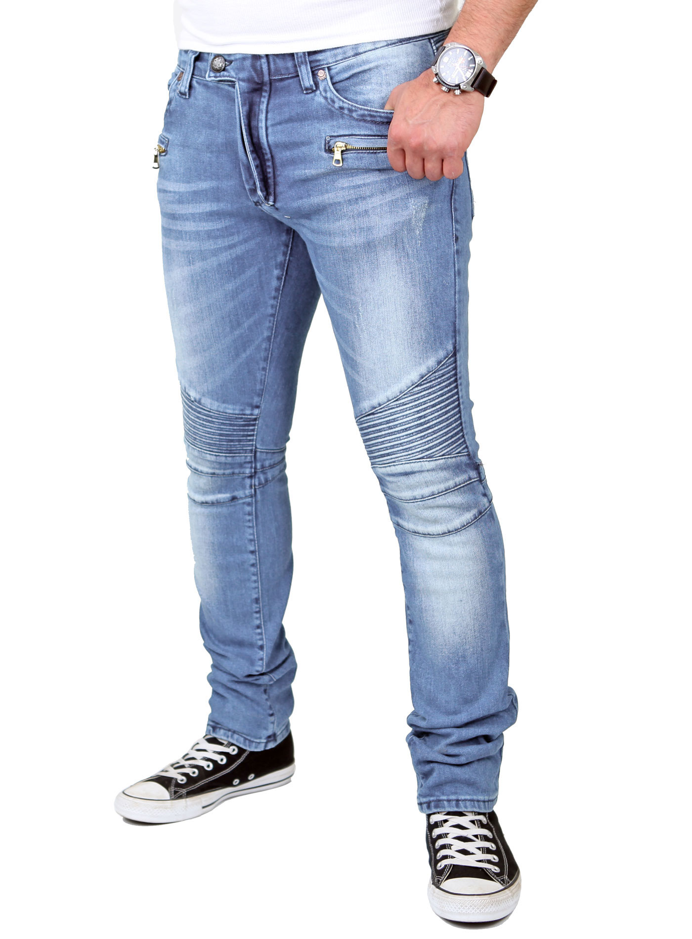 reslad jeans herren skinny used look jeanshose rs 1166. Black Bedroom Furniture Sets. Home Design Ideas