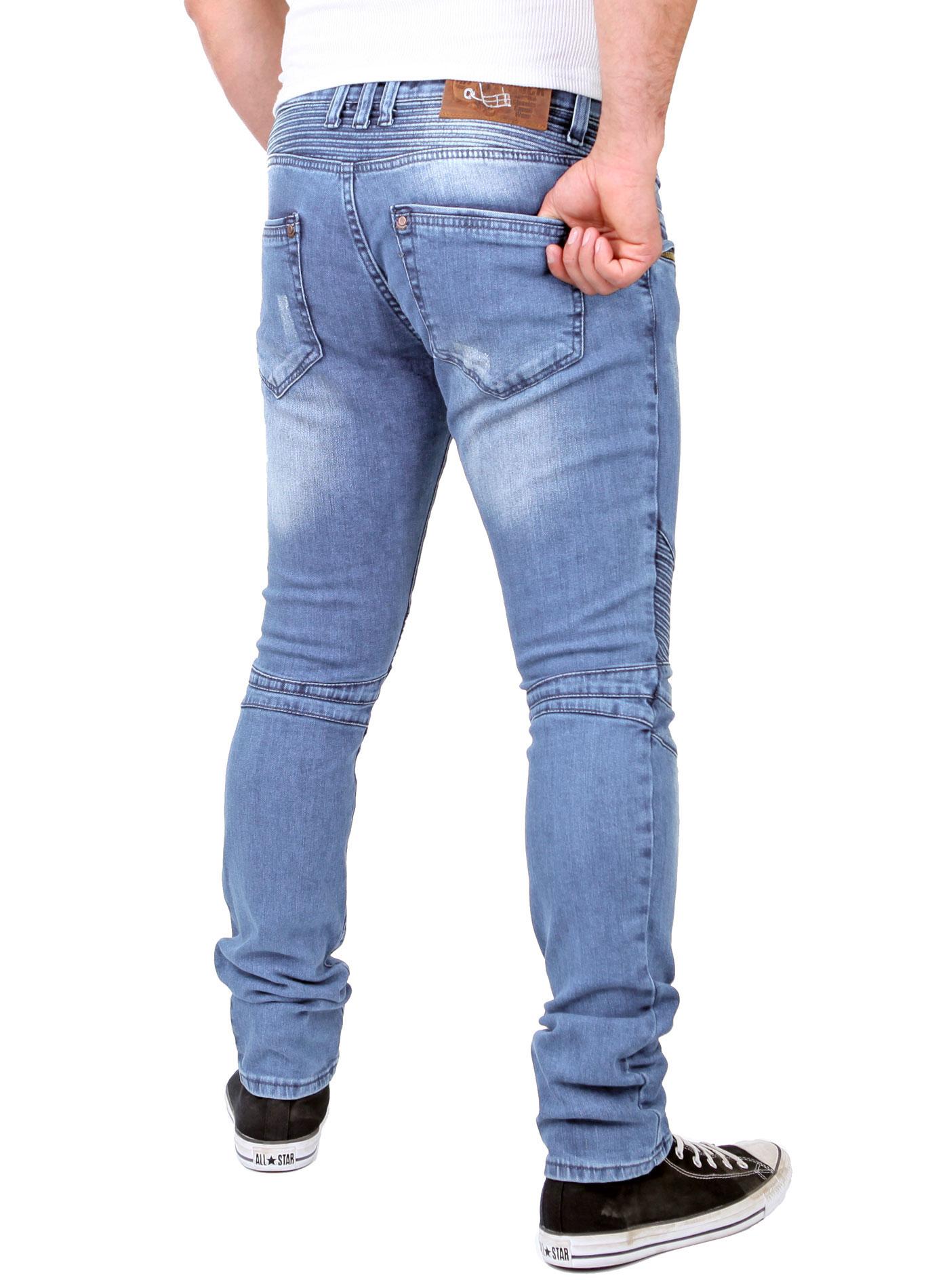 reslad karotten jeans herren slim skinny used look trendy jeanshose rs 1166. Black Bedroom Furniture Sets. Home Design Ideas