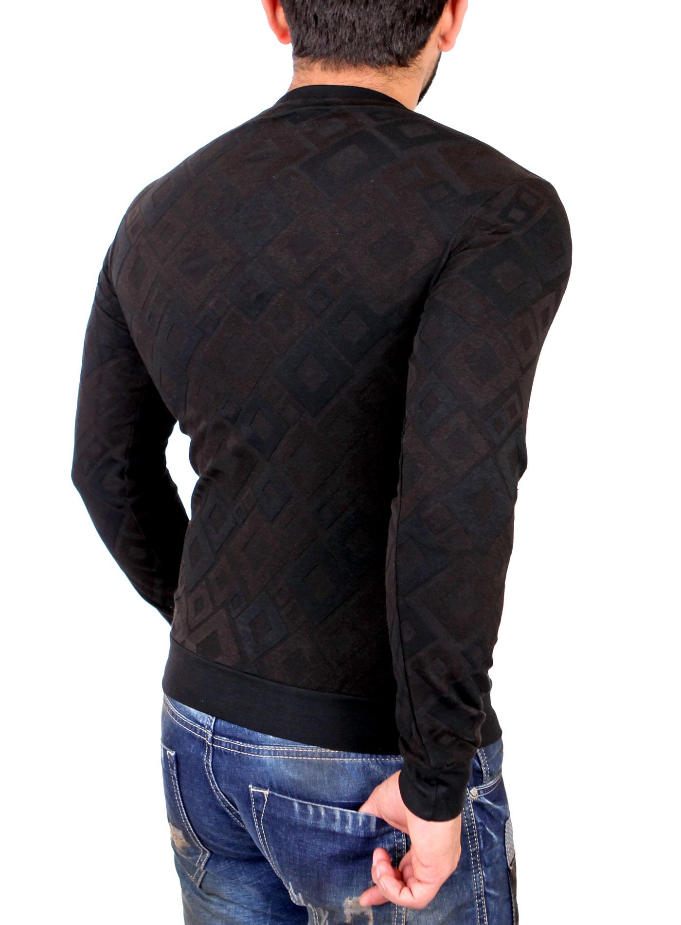 tazzio sweatshirt herren quilt design rundhals pullover tz. Black Bedroom Furniture Sets. Home Design Ideas