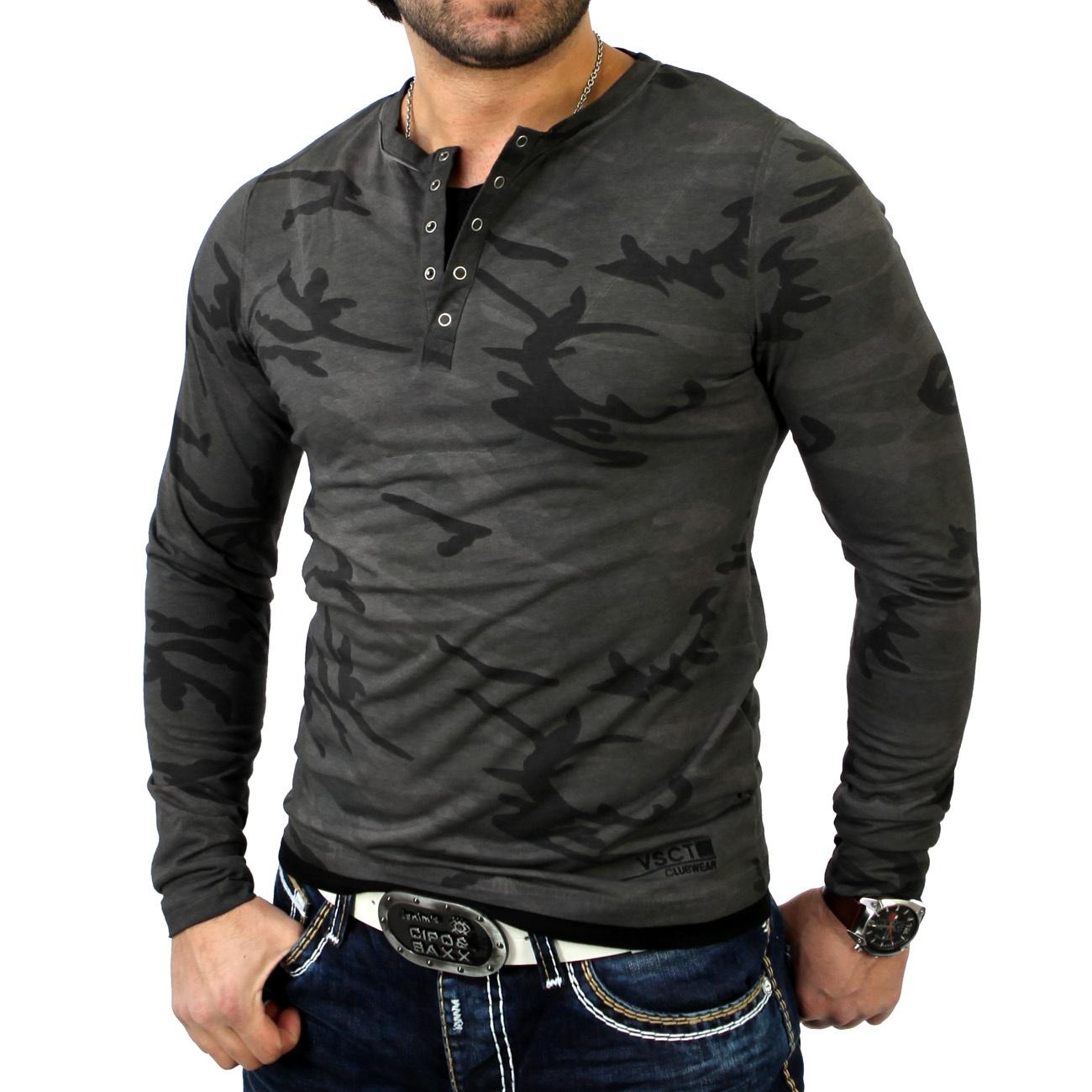 vsct herren layer style longsleeve longshirt hemd t shirt v 5640869 camouflage ebay. Black Bedroom Furniture Sets. Home Design Ideas