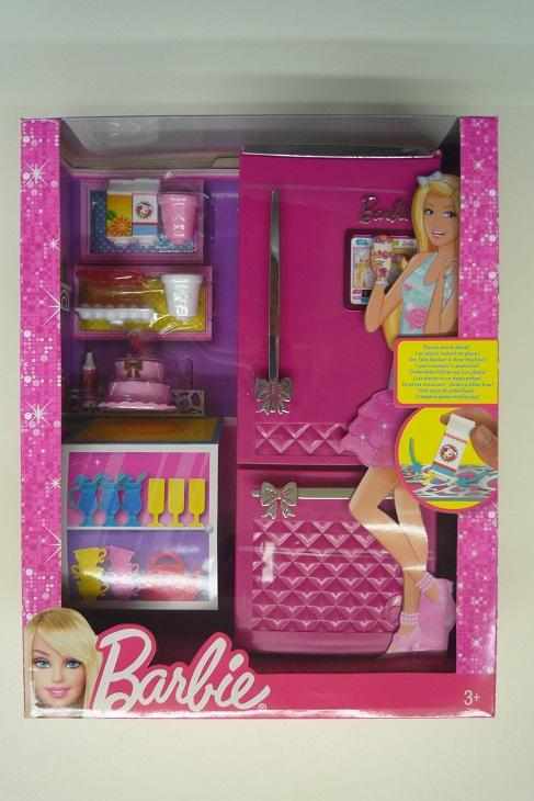 mattel barbie m bel k hlschrank und zubeh r x7937 ebay. Black Bedroom Furniture Sets. Home Design Ideas