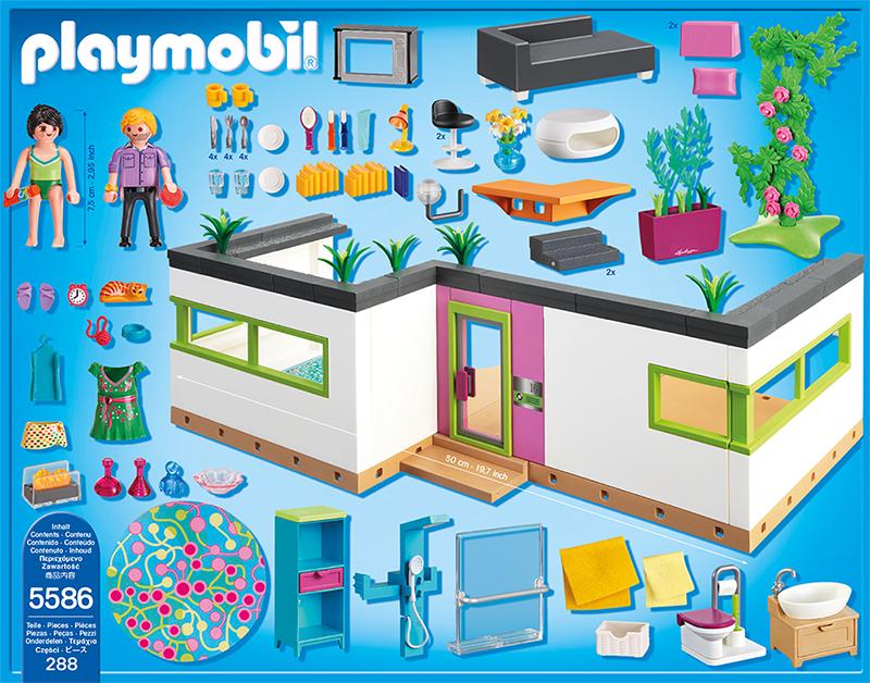Playmobil city life g stebungalow 5586 for Maison moderne 5574