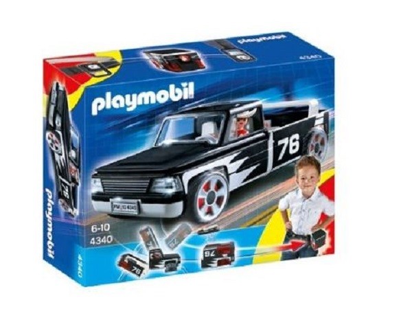 Playmobil city action pickup truck als beltbox 4340 ebay for Kinderzimmer playmobil