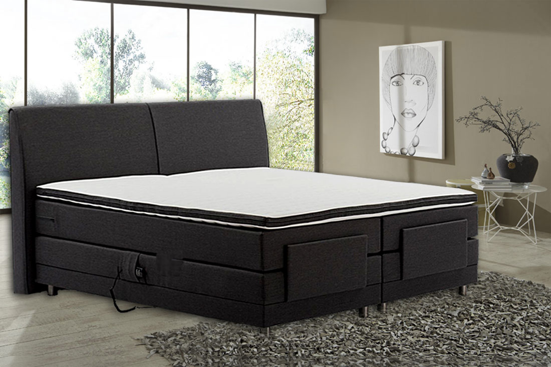 boxspringbett 200 x 200 cm mit motor matratzetfk topper kaltschaum ebay. Black Bedroom Furniture Sets. Home Design Ideas