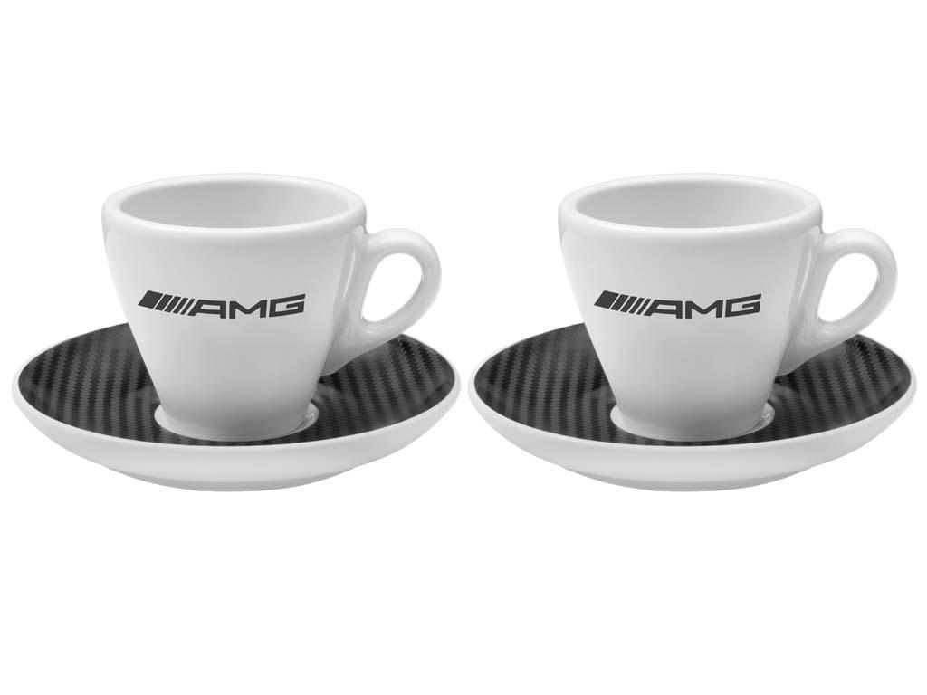 original mercedes benz amg espressotassen 2er set porzellan wei ebay. Black Bedroom Furniture Sets. Home Design Ideas