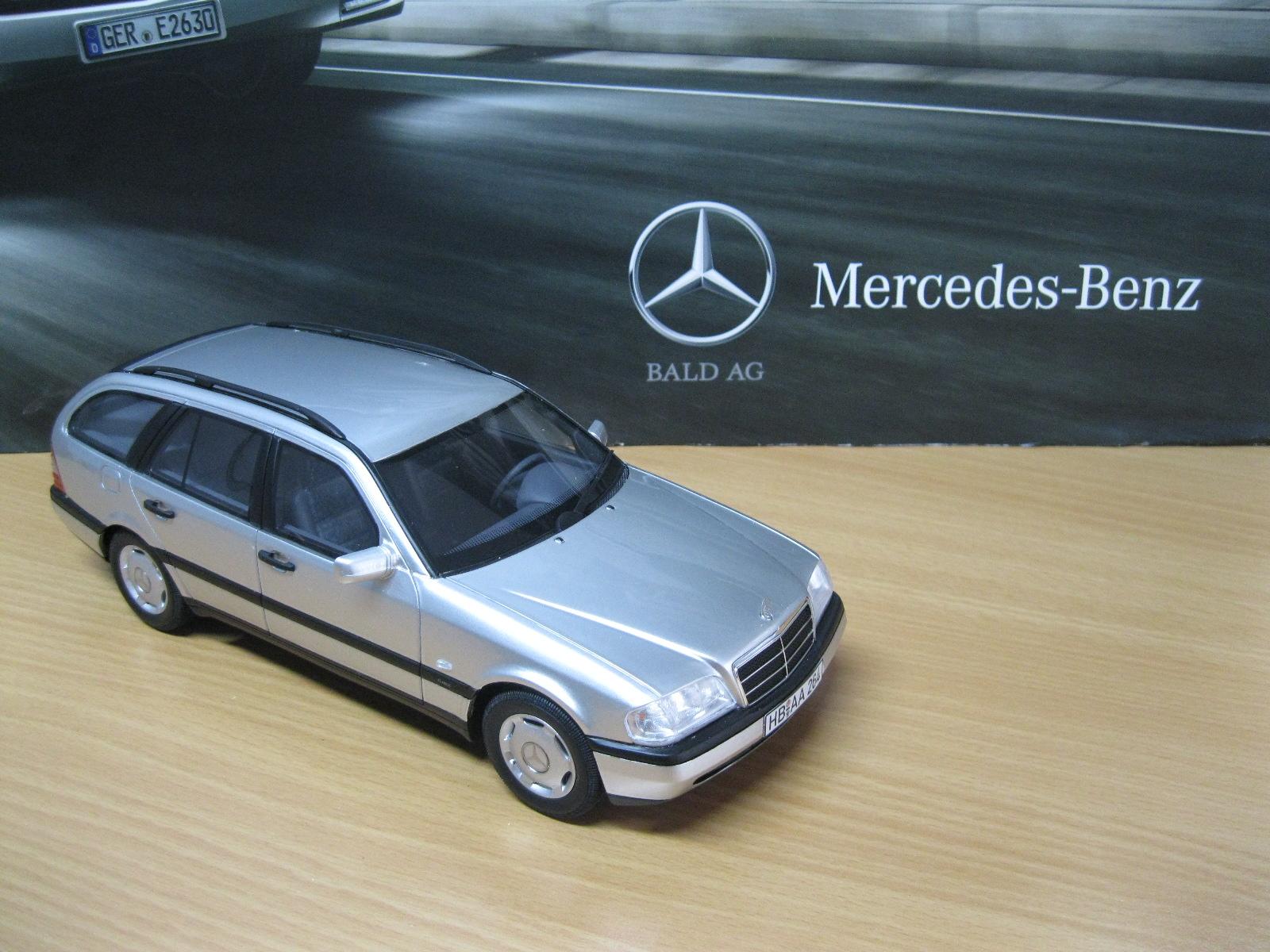 mercedes benz c220 t modell s202 silber 1 18 bos models ebay. Black Bedroom Furniture Sets. Home Design Ideas