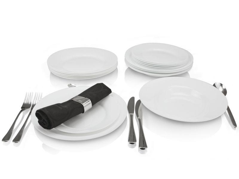 tafelservice porzellan teller set opalglas geschirr speiseteller wei 18 tlg. Black Bedroom Furniture Sets. Home Design Ideas